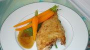 Sola, marchewki i cytrynowy sos