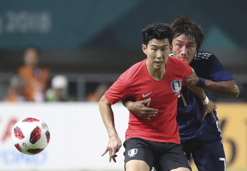 Son Heung-min (na pierwszym planie) /PAP/EPA