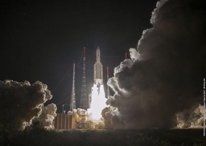 Sonda BepiColombo wyrusza w kierunku Merkurego z bazy kosmicznej Kourou. /2018 ESA-CNES-Arianespace /Materiały prasowe