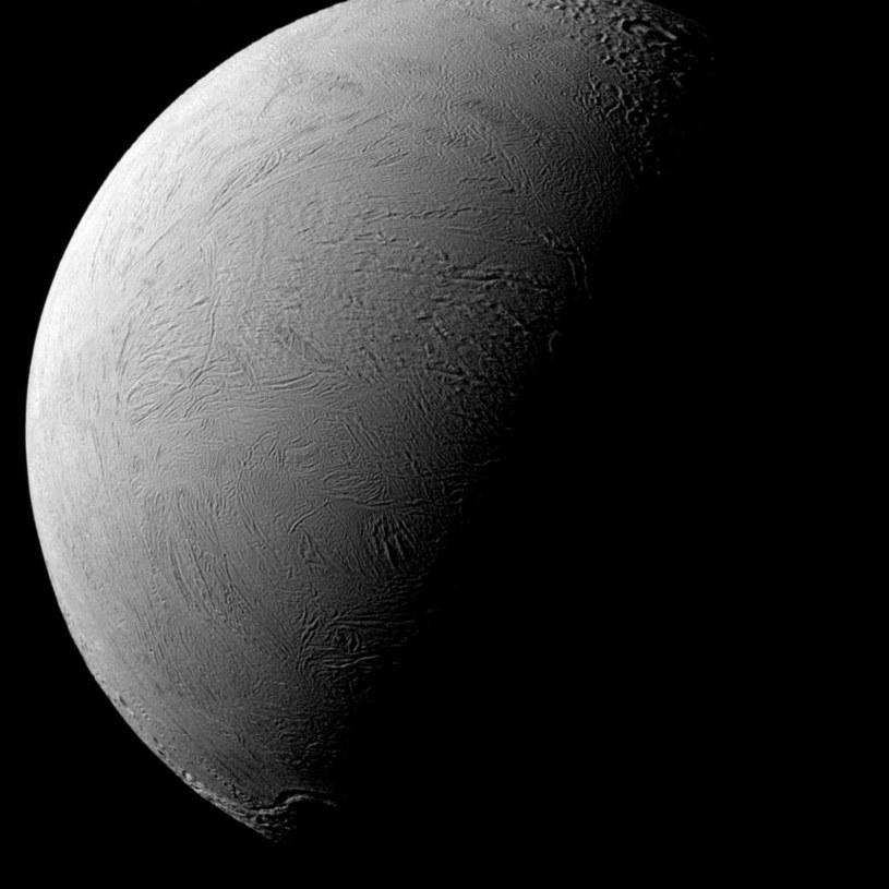Sonda Cassini uchwyciła terminatora na Enceladusie /NASA