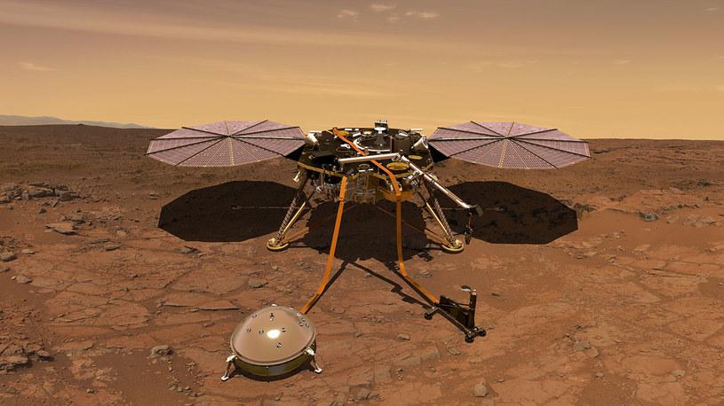 Sonda InSight już namierza wstrząsy na Marsie /NASA