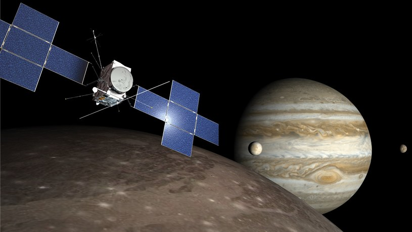 Sonda JUICE pozwoli na zbadania Jowisza i jego księżyców /materiały prasowe