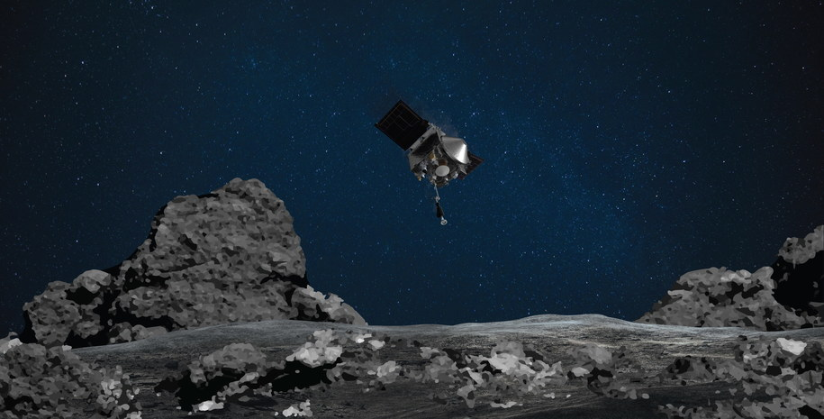 Sonda OSIRIS-REx pobrała próbkę z asteroidy Bennu /NASA/Goddard/University of Arizona / HANDOUT /PAP/EPA