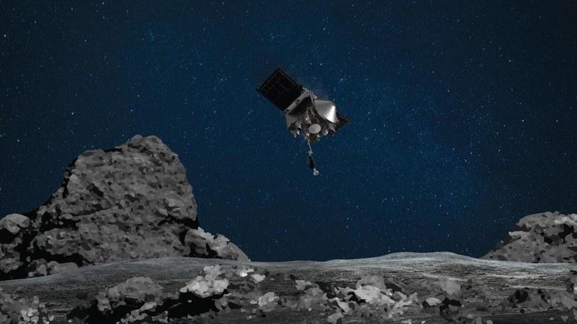 Sonda OSIRIS-REx zbliżająca się do Bennu /materiały prasowe
