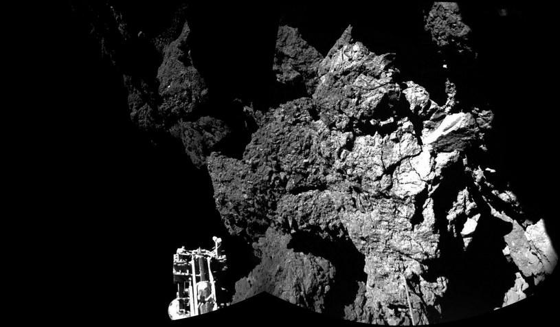 Sonda po wylądowaniu na komecie /AFP