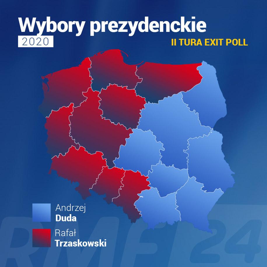 Sondażowe wyniki wyborów w województwach /RMF FM /RMF FM