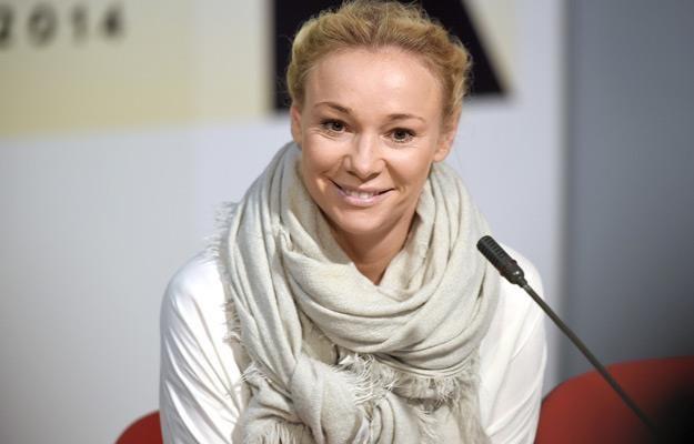 """Sonia Bohosiewicz na konferencji prasowej filmu """"Obywatel"""", festwial w Gdyni 2014 /AKPA"""