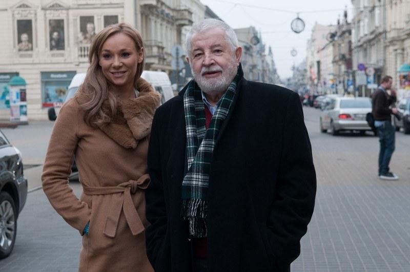 Sonia Bohosiewicz z teściem - reżyserem Januszem Majewskim  /Łukasz Szelag /East News
