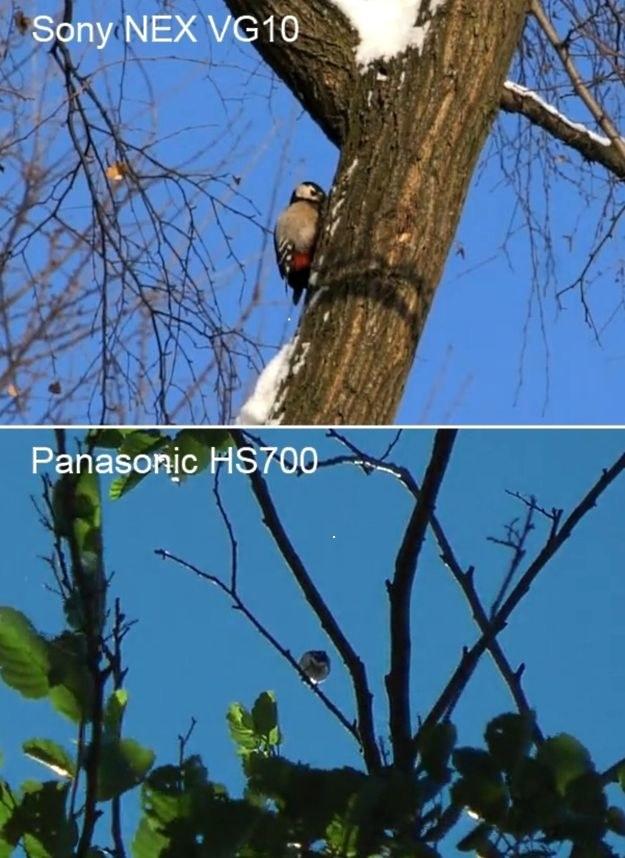 Sony NEX-VG10 i Panasonica HS700 - porównanie jakości obrazu /INTERIA.PL