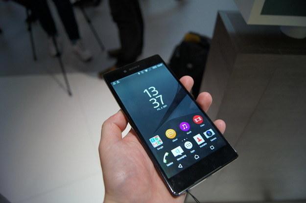 Sony Xperia Z5 Premium z wyświetlaczem o rozdzielczości 4K /INTERIA.PL