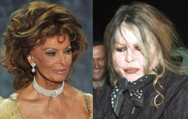 Sophia Loren, Brigitte Bardot. Fot. Kevin Winter, Kael Alford  /Getty Images/Flash Press Media