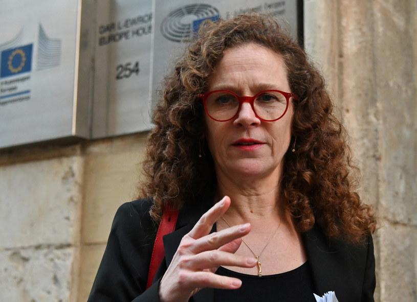 """Sophie in 't Veld mówiąc o Polsce i Węgrzech nalegała, by Unia Europejska nie poddawała się """"szantażowi ze strony dwóch skorumpowanych autokratów"""" /ANDREAS SOLARO /AFP"""