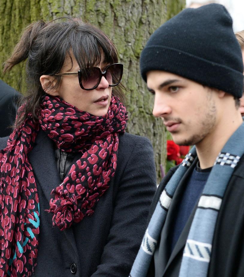 Sophie Marceau z synem Vincentem /Janek Skarżyński /East News