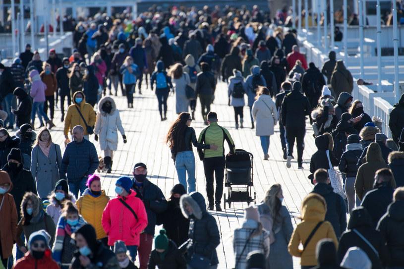 Sopot w czasie epidemii koronawirusa, luty 2021 /Wojciech Strozyk/REPORTER /Reporter