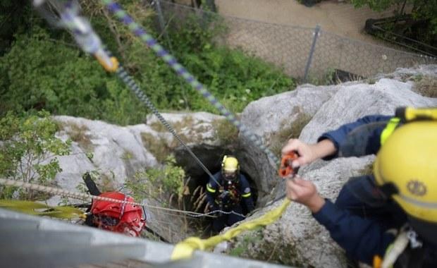Sowa na dnie studni w ruinach średniowiecznego zamku. Nietypowa akcja ratownicza