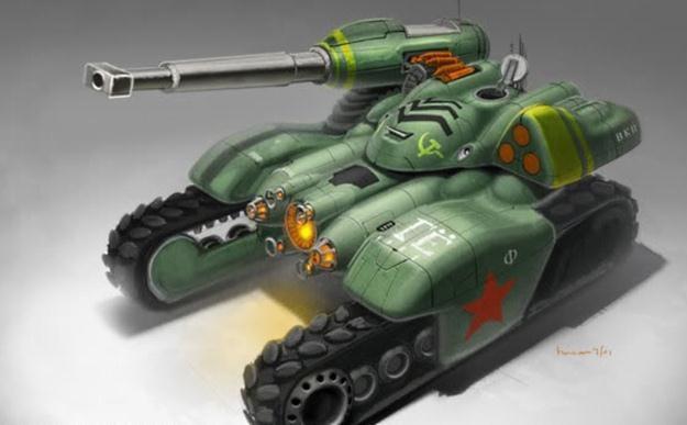 """Sowiecki czołg z gry """"Red Alert 3"""". Czy Rosjanie szykują armię robotów? /materiały prasowe"""