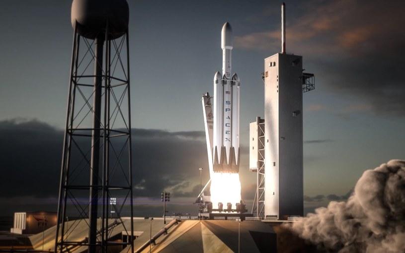 SpaceX Falcon Heavy /materiały prasowe
