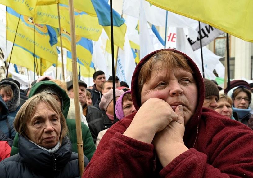 Spada ilość obywateli Ukrainy /AFP