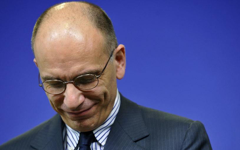 Spada zaufanie do rządu Enrico Letty /AFP