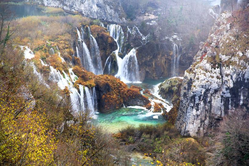 Spadające jeziora w Plitwickim Parku Narodowym w Chorwacji /123RF/PICSEL