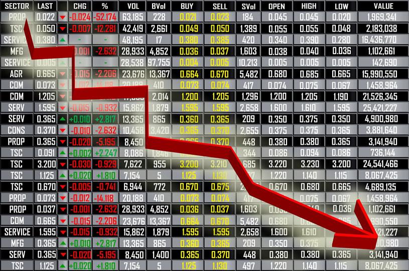 Spadki na rynku akcji... /123RF/PICSEL