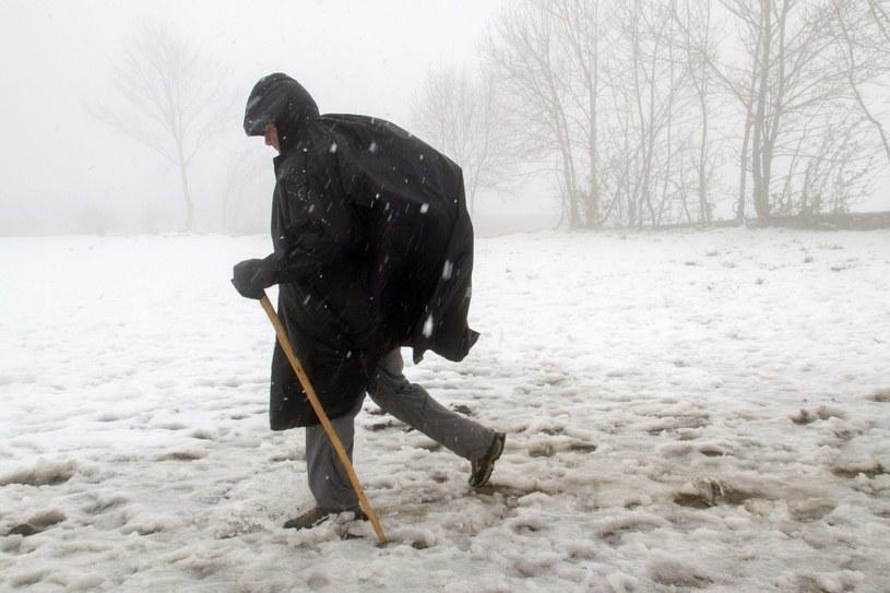 Spadł śnieg /PAP/EPA