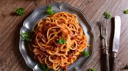 Spaghetti z mięsem na ostro