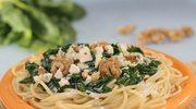 Spaghetti z sosem szpinakowym - w 20 minut