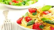 Spaghetti ze smażonymi szparagami