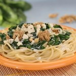 Spaghetti ze szpinakiem i pysznym sosem śmietankowym