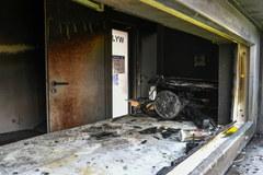 Spalona siedziba sanepidu i punkt szczepień w Zamościu