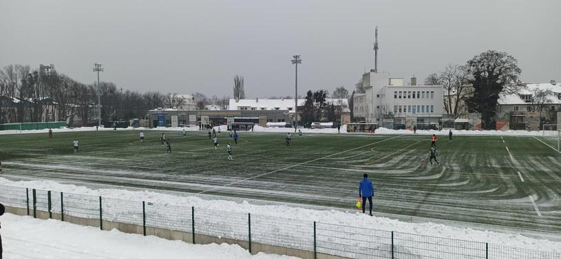 Sparing Lechii z Olimpią Grudziądz na stadionie Ogniwa Sopot /Maciej Słomiński /INTERIA.PL