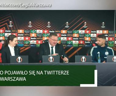 Spartak - Legia. Michniewicz rozlał piwo na konferencji po meczu z okazji wygranej. WIDEO