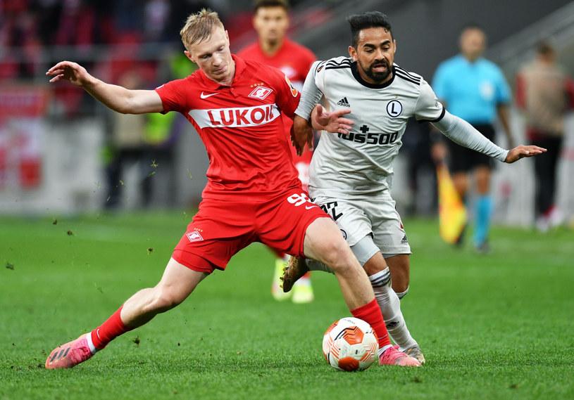 Spartak - Legia. Rasskazow  (po lewej), Luquinhas (po prawej) /Pavel Bednyakov/SPUTNIK Russia /East News