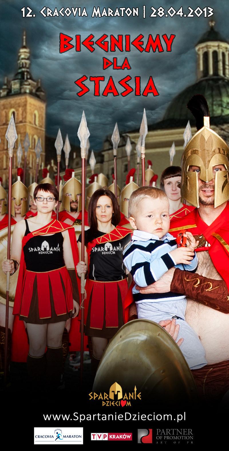 Spartanie gotowi dla biegu dla Stasia. /INTERIA.PL