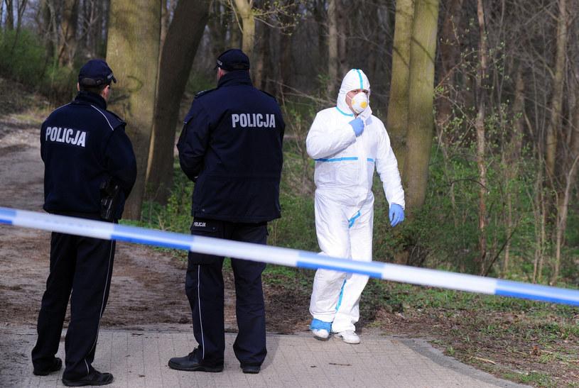 Specjaliści dokładnie przeszukują miejsce zbrodni /Przemek Świderski /East News