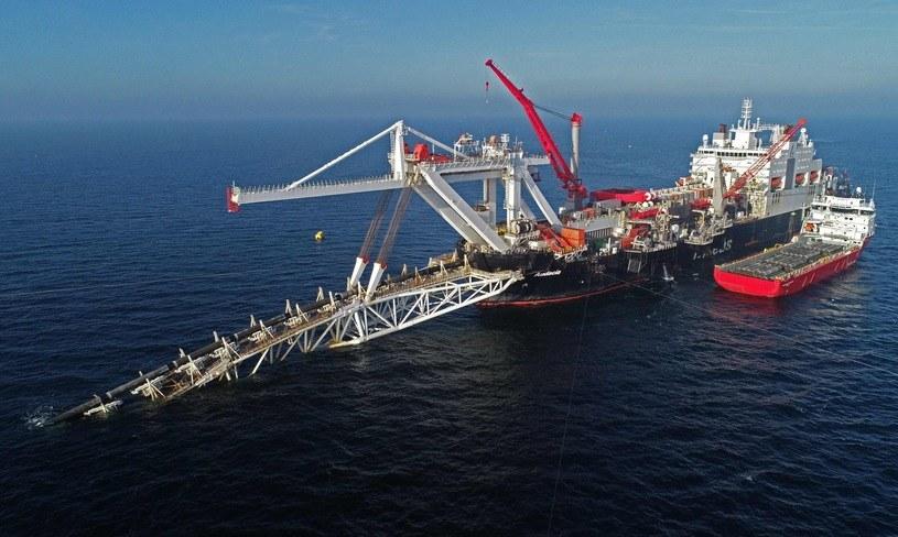 """Specjalistyczny statek """"Audacia"""" miał dokończyć gazociąg Gazpromu pod wodą /AFP"""