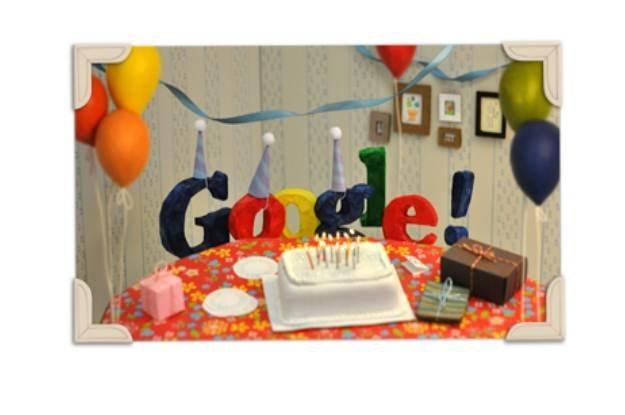 Specjalne Doodle przygotowane na 13. urodziny Google /materiały prasowe