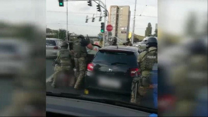 Spektakularne zatrzymanie po brutalnym napadzie w Lublinie. /policja.pl /Policja