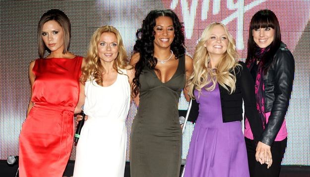 Spice Girls w komplecie: Victoria, Geri, Mel B, Emma, Mel C - fot. Dave Hogan /Getty Images/Flash Press Media