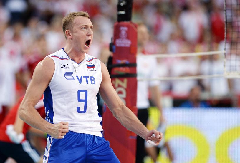 Spirydonow w meczu z Polską na mistrzostwach świata w 2014 roku /Łukasz Laskowski /Newspix
