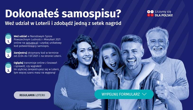 Spis powszechny. Loteria trwa,  fot. https://loteria.spis.gov.pl/ /