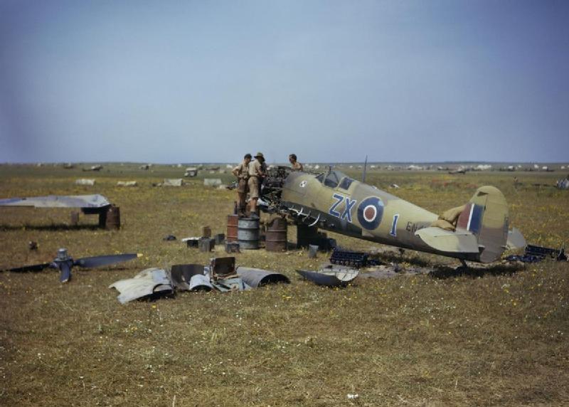 Spitfire, na którym Eugeniusz Horbaczewski zestrzelił Me-109, a później awaryjnie lądował w Gabes /Wikimedia Commons /INTERIA.PL/materiały prasowe