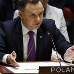 """""""Społeczność ONZ nie może zaakceptować takich metod"""". Prezydent Duda na RB ONZ"""