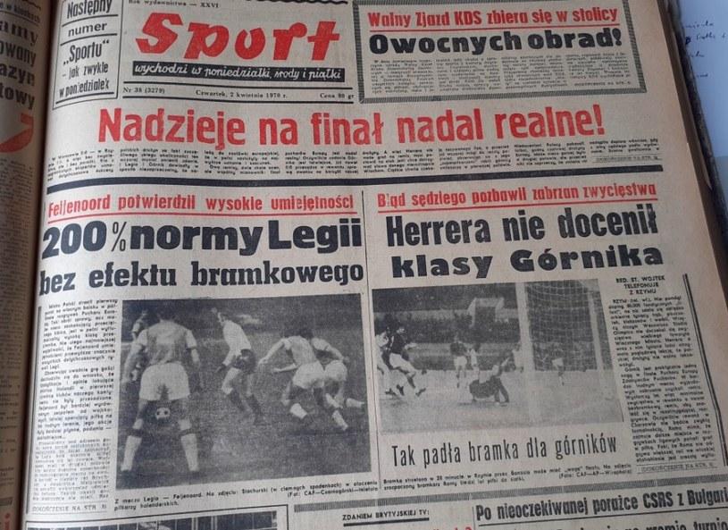 """""""Sport"""" o meczach Górnika i Legii /Michał Zichlarz /INTERIA.PL"""