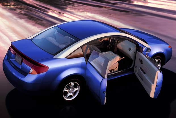 Sposób otwierania drzwi w Saturnie ION quad coupe (kliknij) /INTERIA.PL