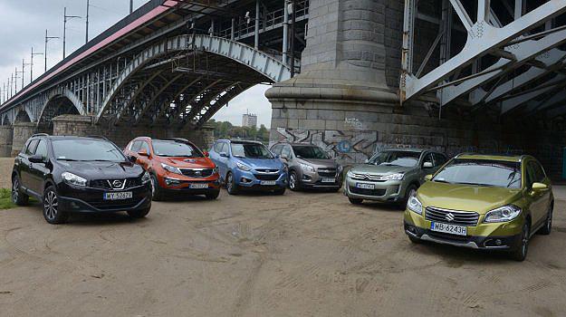 Spośród 6 aut w teście, 3 to tegoroczni debiutanci. Nowe jest Suzuki SX4 S-Cross. Hyundai ix35 właśnie przeszedł lifting, a Citroen C4 Aircross – w końcu trafił do Polski. /Motor