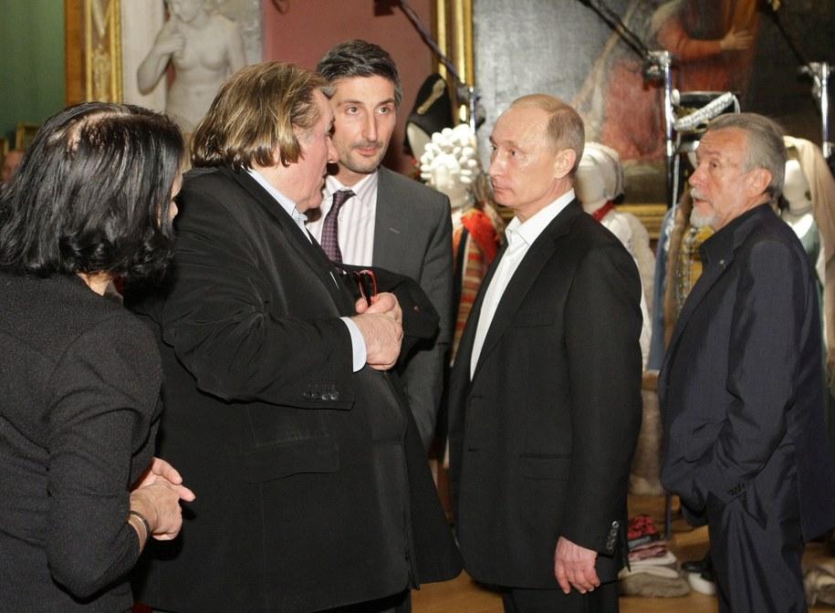 Spotkanie aktora z Putinem z 10 grudnia 2010 roku /ALEXEY NIKOLSKY/RIA NOVOSTI/GOVERNMENT PRESS SERVICE /PAP/EPA