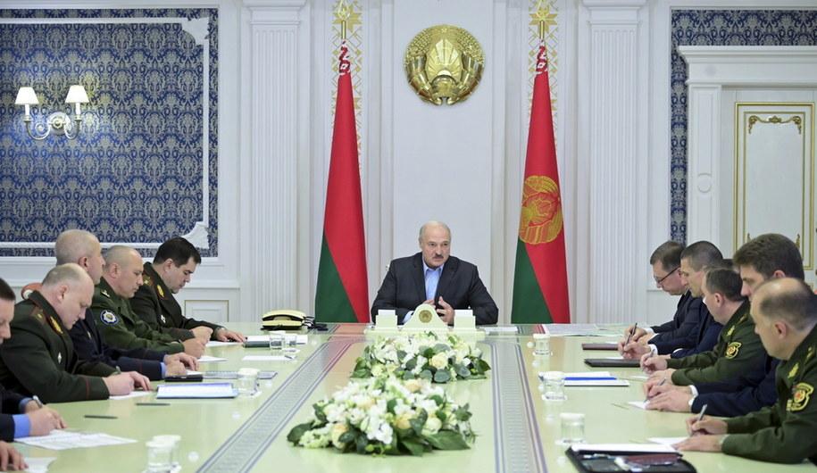 Spotkanie Alaksandra Łukaszenki z wojskowymi odpowiedzialnymi za bezpieczeństwo kraju /NIKOLAI PETROV /BELTA /POOL / POOL /PAP/EPA