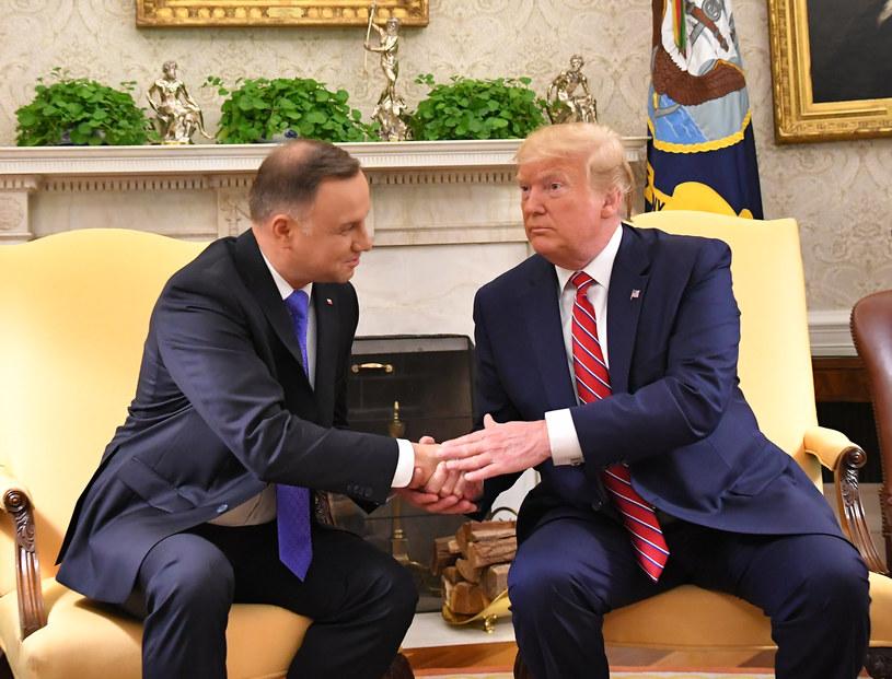 Spotkanie AndrzeJa Dudy z Donaldem Trumpem /AFP